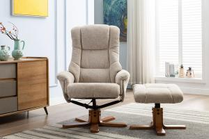 Florence Swivel Recliner Sand Lille