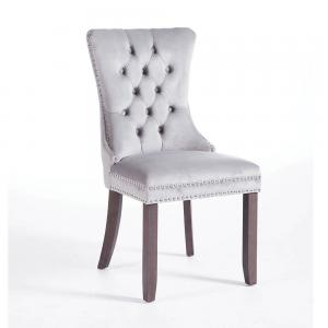 Kacey Grey Chair Antique Leg