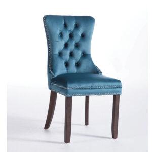 Kacey Teal Chair Antique Leg