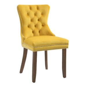 Kacey Gold Chair Antique Leg