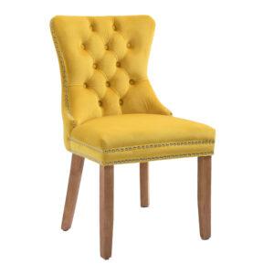 Kacey Gold Chair Brushed Leg