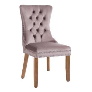 Kacey Mink Chair Brushed Leg