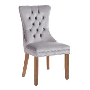 Kacey Grey Chair Brushed Leg