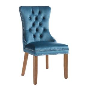 Kacey Teal Chair Brushed Leg