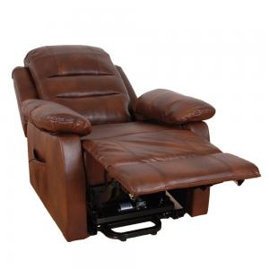 Lincoln Two Tone Brown Lift & Tilt Recliner