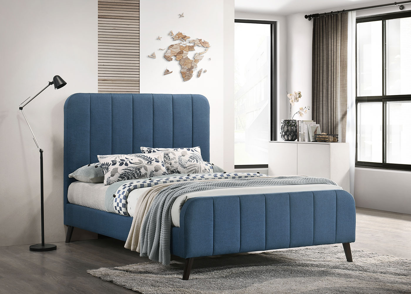 Marcel Blue 4'6 Bed