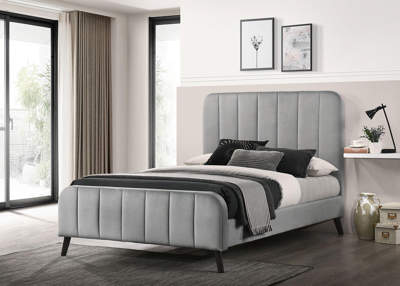 Marcel Grey 4'6 Bed