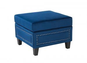 Paris Footstool Blue