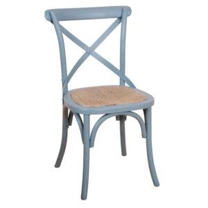 Cross Back Chair Blue