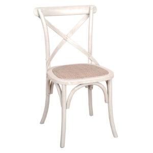 Cross Back Chair Cream
