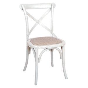 Cross Back Chair White