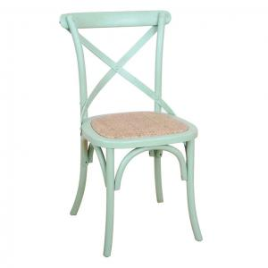 Cross Back Chair Green