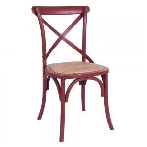 Cross Back Chair Burgundy
